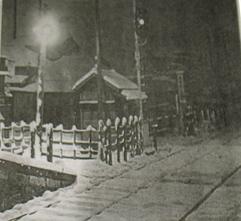 雪の立石駅